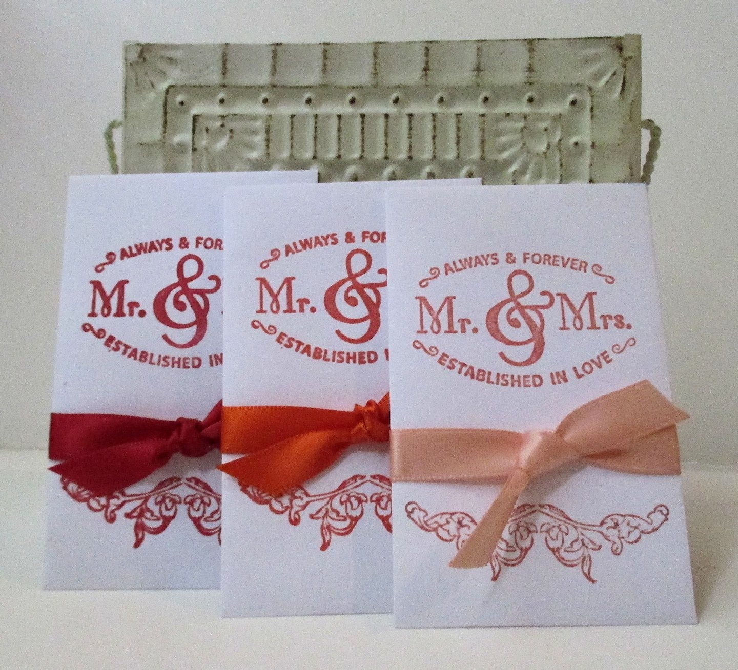 Wedding Favors Wildflower Seeds Hand Stamped Packets Mr