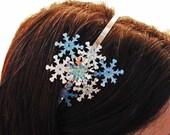 Snowflake Frozen Headband - Snow Queen Hair Accessory - Elsa Headband