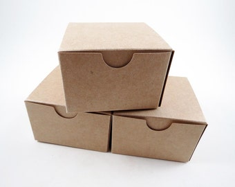 25 Kraft Boxes - Jewelry Box -  Gift Box - Favors - Kraft Box - 3 x 3 x 2