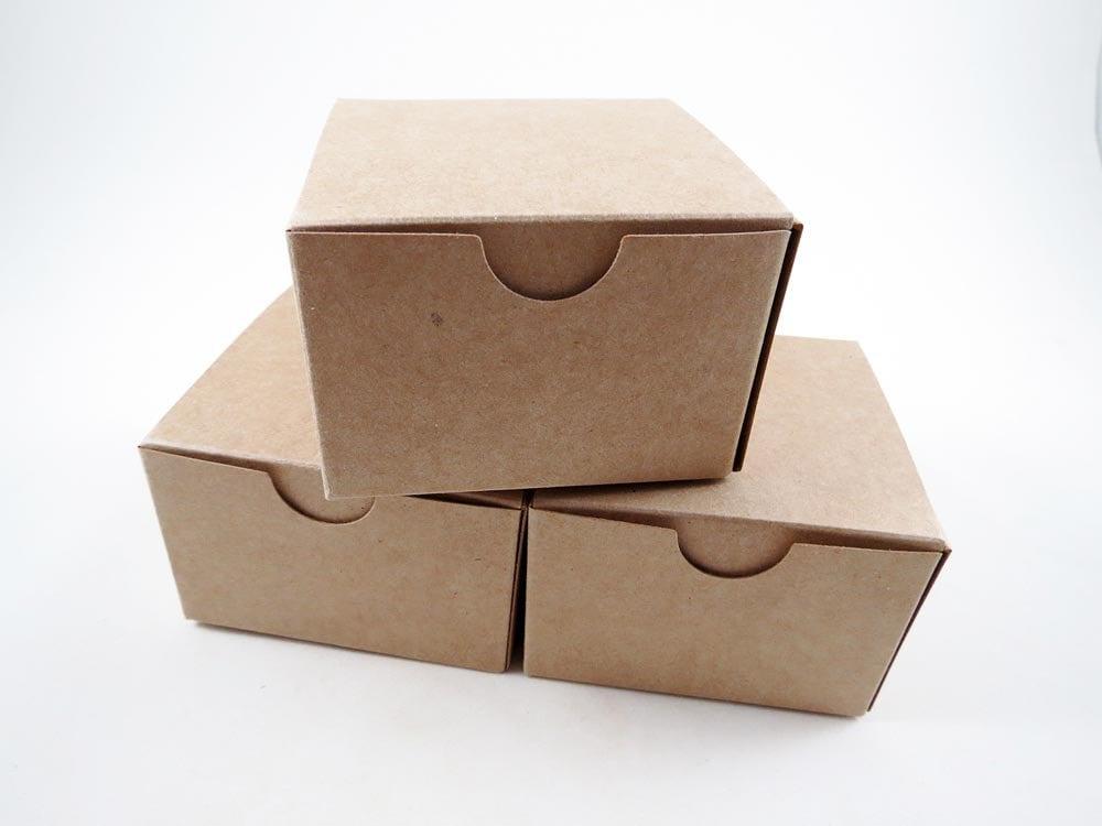 50 kraft boxes jewelry box gift box favors kraft box
