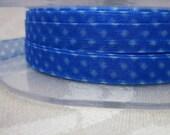 10m Sheer Spotty Blue Ribbon