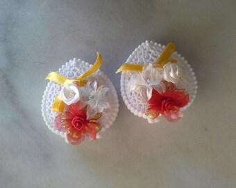 Vintage Plastic Lace Hearts Hong Kong