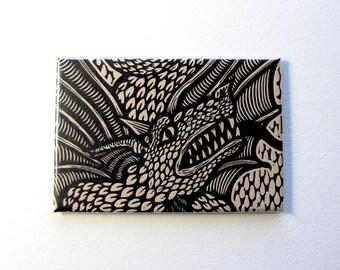 Dragon art magnet 2 x 3 inches