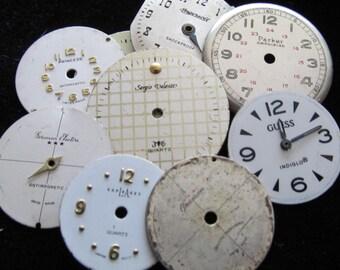 Vintage Antique Watch Dials Steampunk  Faces Parts DG 3