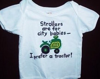 Tractor Baby Baby One Piece, I Prefer A Tractor Bodysuit, Farm Baby, Future Farmer Baby Bodysuit, Baby Boy