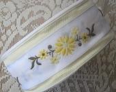 Czech Republic Woven Fabric Traditional Folkloric Trim Jacquard 50mm Wide 1 Yard Yellow