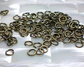 6mm 18 gauge OPEN Antique Bronze Nickel free Jump Rings 30pcs Jewelry Jewellery Craft Supplies