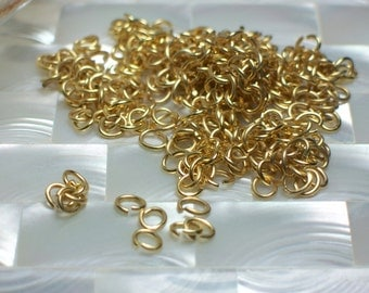 Jump Rings, OVAL, Polished Gold, Nickel free, Open Jump Rings, 30pcs, 20gauge, 4 by 5mm, Findings, Jewelry Supplies, Jewellery Supplies