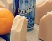 Natural Blue | Beer Soap | Natural Orange Essential Oil Soap | Made with Blue Moon Beer | Gifts for Men | Fatty's Soap Co.