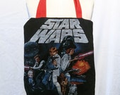 STAR WARS cotton Tote Bag with Red Strap