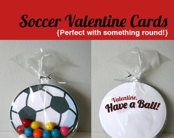 Printable Soccer Valentines Cards - Have a Ball