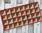 Quilted Log Cabin Table Runner (EDTR33)