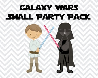DIY Instant Download Printable Galaxy Wars Inspired  Small Party Pack