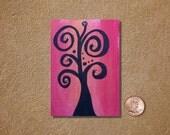 Tree 4 ACEO Original Painting