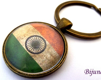 India keychain - Country India keychain - World country India keychain k187