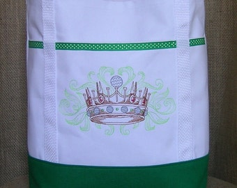 Embroidered Golf Tote Bag - Tote Bag for Lady Golfer