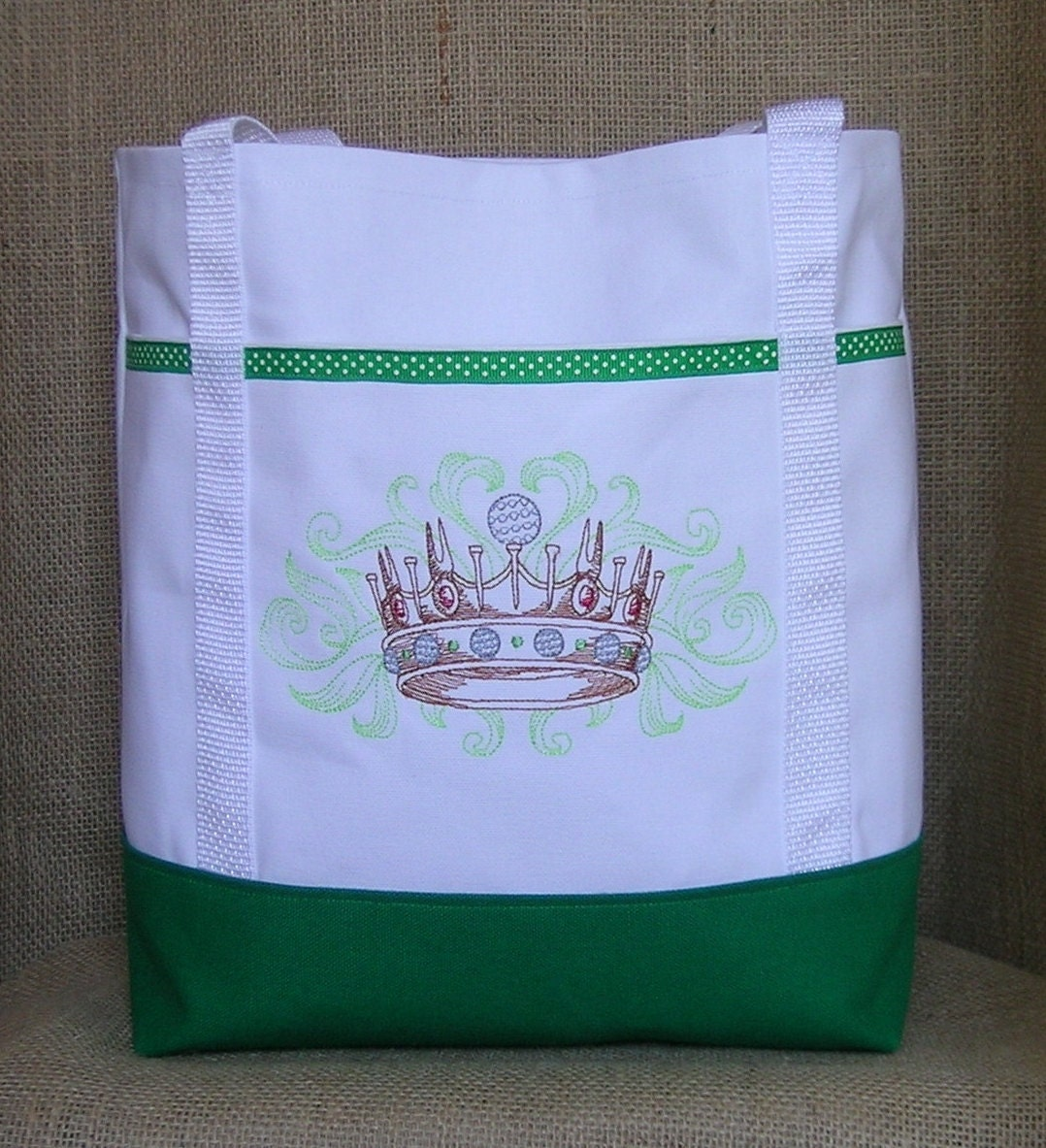 Golf tote bag embroidered for lady