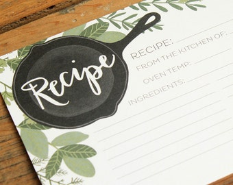 Herb Recipe Cards Set of 15