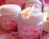 PINK SUGAR Scent - FACIAL Whipped Soap with Sugar Cane and Jojoba Oil Beads