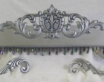 Fleur de lis bed crown all included options