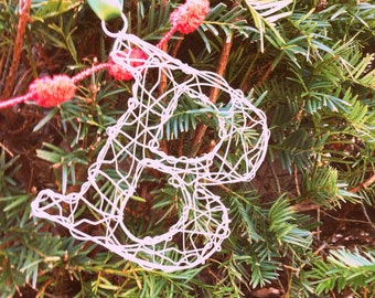 Wire Letter Ornament- Letter/color of your choice
