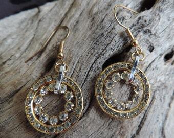 Fancy Fantasy Goldtone Earrings