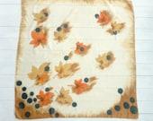 Vintage Silk Maple Leaves Scarf