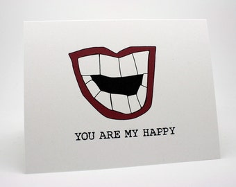 Thinking Of You Card - You Make Me Happy