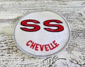 Unused Vintage 1960's Classic Car Chevelle SS Large  Car Logo Crest Embroidered Car Emblem / Patch