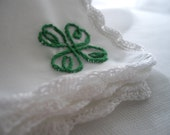 Unique Celtic Heart Knot Irish Keepsake Handkerchief Bouquet Wrap Gift For Bride Mother Bride Ready To Ship Handmade by handcraftusa