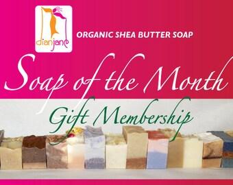 6 MONTH - Dian Jane Organics Soap of the Month Club Membership Gift