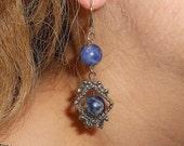 Lapis lazuli earrings, dangle earrings,  Boho chic earrings, gift ideas, drop earrings,  Boho gypsy jewelry