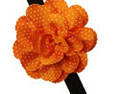 Orange flower and black headband for babies girls ladies etc