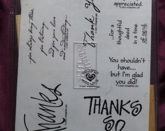 Stampin' Up Many Thanks Rubber Stamp Set