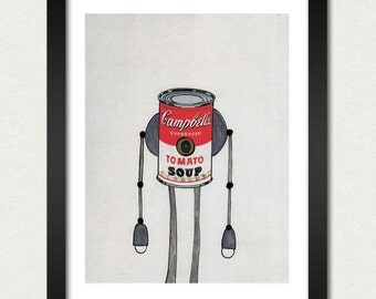 Mike Slobot   Robot Art   The Campbell's Soup Bot