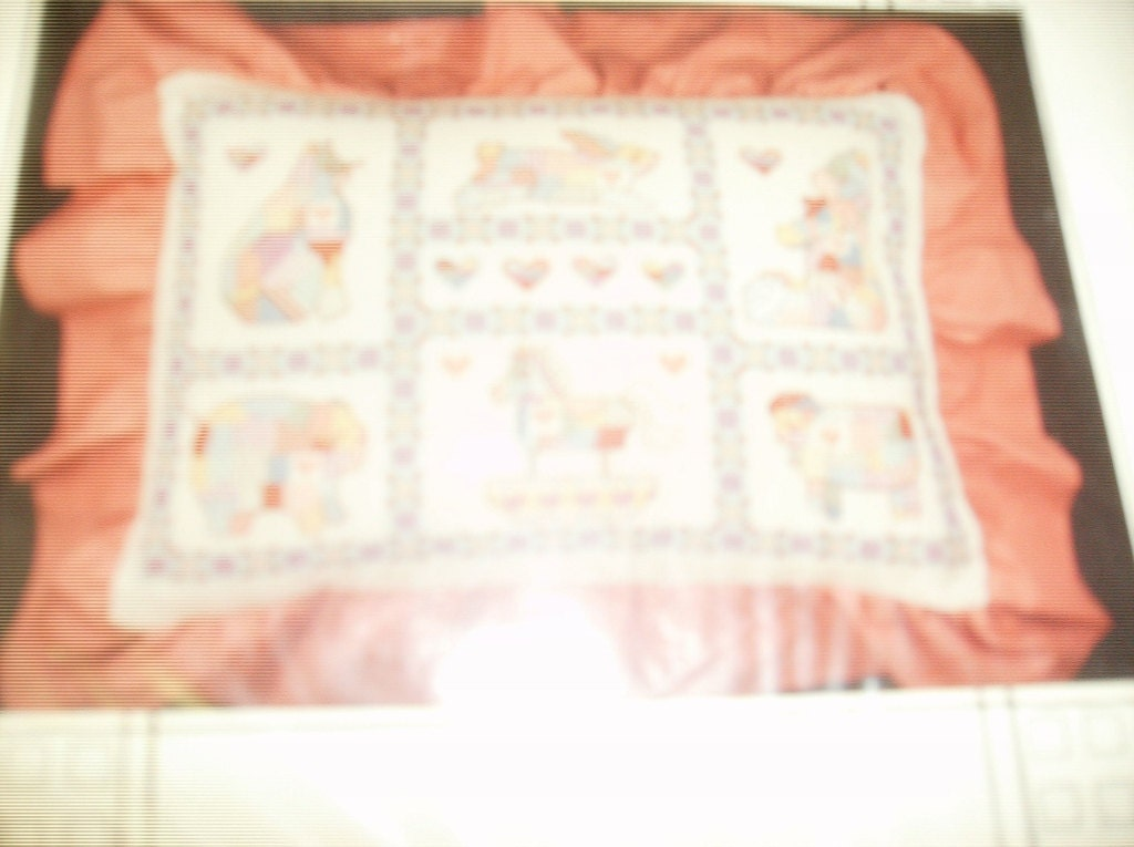 Counted Cross Stitch Lagniappe Designs MT-4 Animal Crackers Pillow or Sampler Kit from ...