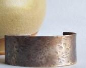 Hammered Bronze Cuff Bracelet - Bronze Jewelry - 19th Anniversary Gift - Valentine's Day Gift - Bronze Anniversary Gift