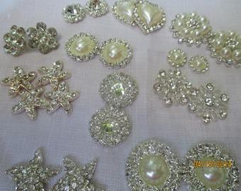 24 Jewelry Components  Jewelry Making  Rhinestone Flatbacks  24FLR