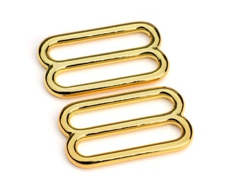 "10pcs - 1"" Metal Diecast Zinc Slides Gold - Free Shipping (ZINC SLIDE ZSD-110)"