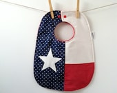 Texas Baby Gift - Baby Bib with Snaps