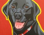 Custom 20x20 Pop Art Dog Portrait Painting