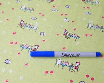 Enchant Tea Party C3472 Green by Natalie Lymer for Riley Blake Fabrics 1/2 yard on sale
