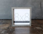 8x8 picture frame with driftwood gray finish part of Drift Collection . 8x8 handmade picture frame .