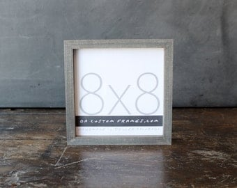 8x8 picture frame with driftwood gray finish part of drift collection 8x8 handmade picture frame