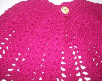 Child's crocheted cape