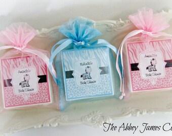 Zebra Baby Shower Favors, Soap Favors, Baby Shower Favors, Zebra Favors, set of 10