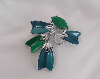ON SALE WAS 16.99 Vintage Lisner Blue and Green Pin