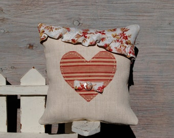 UnderCover Heart - Antique French Pillow Sleeve 14 Inches