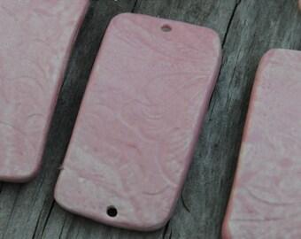 Pottery Bracelet Bead in Pink