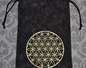 Flower of Life sacred geometry tarot bag **SALE